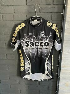 Vintage 2001 Cannondale SAECO Team Cycling Jersey Size M Rare Bike Shirt Black