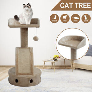 Scratching Scratch Cat Tree Post Scratcher Tower Condo House Cat Play With Toy