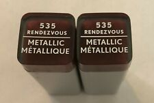 (2) Covergirl Exhibitionist Metallic Lipstick, 535 Rendezvous