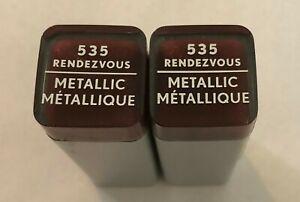 (2) Covergirl Exhibitionist Metallic Lipstick, 535 Rendezvous