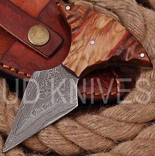 UD KNIVES CUSTOM HANDMADE DAMASCUS STEEL HUNTING FULL TANG KNIFE 8817