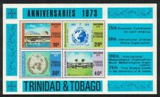 More details for trinidad and tobago anniversaries events ms no watermark rarr 1973 mnh sg#ms439