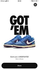 Nike Dunk Low x Undefeated '5 On It' UK 10.5 Brand New - FAST SHIPPING📦💨