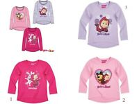 Girls Kids Official Masha And The Bear Rabbit Squirrel Short Sleeve T Shirt Top