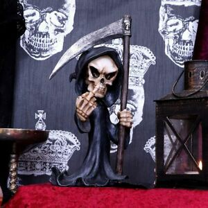 Grim Reaper Finger Gothic Ornament Figure by Nemesis Now New & Boxed 21cm