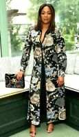 Tory Burch Agnes Embellished Floral Maxi Long Gown Jacket Runway Dress  2 4 / XS