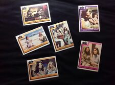 Charlie's Angels Topps Trading Gum Cards # 11, 122, 124, 133, 134, & 136