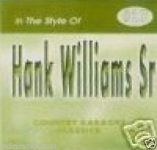 Hank Williams Sr Karaoke CD CDG JAMBALAYA Your Cheating Heart YOU WIN AGAIN 16Sg