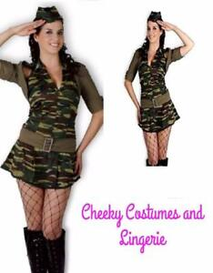 Army Costume Services Military Camouflage 4 Piece Costume One Size Fits 10-14