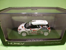 NOREV 1:43 - CITROEN DS 3 R3 RALLY DU VAR 2010     - IN  ORIGINAL  BOX