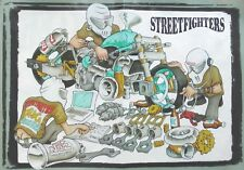 A Magazine Centre-Fold (42cm x 30cm) Simpson Helmets NOS Drag Bike Cartoon Turbo