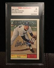 BILL STAFFORD 1961 TOPPS ROOKIE Autographed Signed Baseball Card SGC COA 213 FG