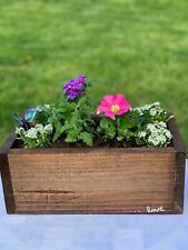 Beautiful stained Handmade Wooden Flower Box's Usa 13 inches Long 7 inches wide