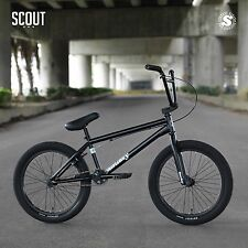 "2018 SUNDAY BIKE BMX SCOUT 20"" SEMI-MATTE BLACK BICYCLE FIT CULT PRIMO KINK HARO"