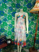 AB51 Vintage Dress 1970's Polyester Size 10 12