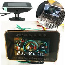 Car 4 in 1 Water Temperature/Oil Pressure/Fuel/Voltage Gauge 3 Digit LCD Display