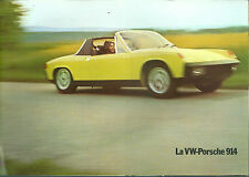 Catalogue Porsche 914 1.8 & 2.0 1973  Brochure prospekt