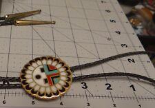 Zuni Native American Bolo Tie Hand braided