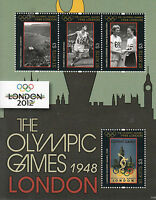 St Kitts 2011 MNH London 2012 Olympic Games 1948 4v M/S Olympics Wembley Stamps