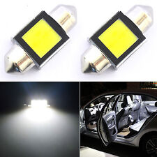 2x 31mm DE3175 Festoon Interior COB Car LED Dome Light Bulb 6000K HID White
