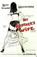 MY BROTHER'S WIFE Movie POSTER 27x40 June Roberts Sam Stewart Bob Oran Darlene