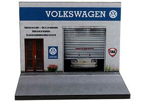 Diorama garage Volkswagen - 1/43ème - #43-2-A-A-116