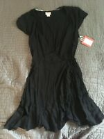 H8 Mossimo Womens Dress Black Side Wrap Size S small