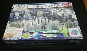 """New York City 4D Cityscape Time Puzzle Glow in the Dark 700+ pieces """"New"""""""