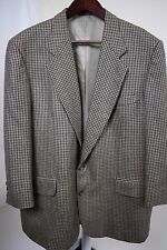 NWOT Oscar de la Renta 100% Wool Multi-Colored Houndstooth 3/4 Sleeve Blazer-46R