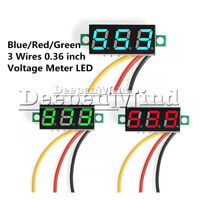 LED DC 0-30V 3-Digital Diaplay Voltage Voltmeter Panel Meter with 3 Wires Mini
