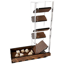 """C4Labs 10"""" Tall Clear Dice Tower & Basic Tray - Walnut"""
