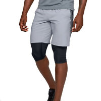 Under Armour Launch Sw 2 In 1 Long Grey UA HeatGear Mens Running Shorts