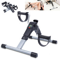 Foldable Exercise Cycle Bike Fitness Mini Pedal Trainer Stepper Indoor Gym LCD
