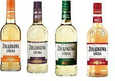 4 Flaschen Zoladkowa Gorzka Mix Wodka 4 Sorten a 500ml Polnischer Wodka a 500ml