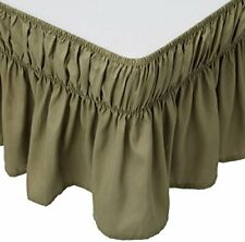 MK Collection Wrap Around Style Easy Fit Elastic Bed Ruffles Bed-skirt Queen-kin