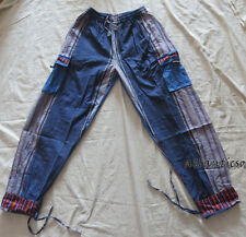 T696 XXL Multicolor unisex Thick Cotton Block Printed Homemade Gift Trouser