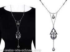 Restyle Halskette Gothic Steampunk Necklace Occult Moon Sailor Alchemy Geometry