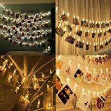 10 LED Foto Clip Lichterkette Klammern Stimmungslicht Dekoration Weihnachten