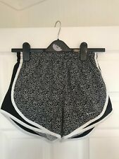 Womens Nike Dri-fit running shorts black and white - Size XS
