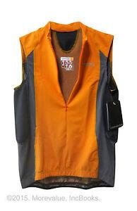 women's M cycling jersey sleeveless Cannondale LE Carbon SL orange hidden zipper