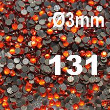 iron-on 250 Strass thermocollant RHINESTONE hotfix Ø 3 mm ss10 ORANGE N° 131