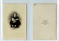 Cazot, Une fillette nommée Isabelle Allart CDV vintage albumen carte de visite,