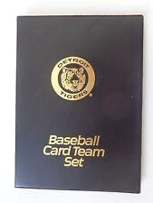 "Detroit Tigers Baseball Card Team Set Binder 6"" x 8"" Holds up to 64 Cards"