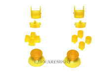 Clear Yellow PS3 Controller Thumbstick DPad L1/R1 L2/R2 Triggers Buttons Set