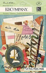 Ephemera Scribe 25 pcs Brenda Walton Scrapbook Die Cuts K&Company NEW