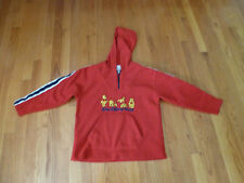 WALT DISNEY WORLD KIDS  RED WINNIE THE POOH HOODIE/SWEATSHIRT   SIZE MEDIUM