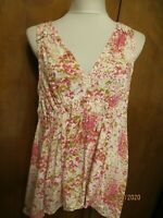 Anthropologie Maeve  Women's Pink Rose Rayon Top