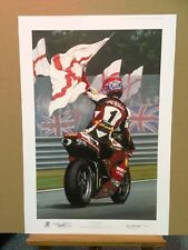 Ray Goldsbrough - Farewell Foggy (Print Only) #239/750 co-signed by Carl Fogarty