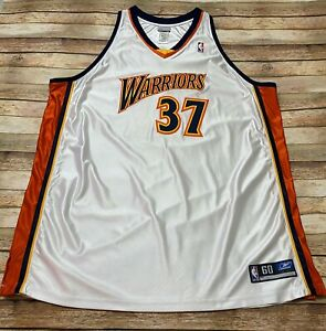Authentic GOLDEN STATE WARRIORS Jersey NICK VAN EXEL Vtg 2003-2004 Sz 60 FLAWED