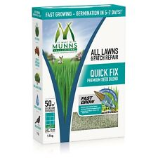 Munns Professional QUICK FIX PATCH REPAIR 1.1Kg Seed, Fertiliser, Wetting Agent